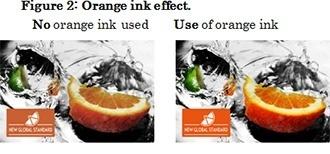 Figure 2: Orange ink effect.