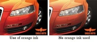 Use of orange ink / No orange ink used
