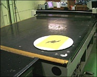 Cutting the glass (mirror) in a circle