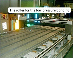 The roller for the low pressure bonding