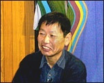 The president, Mr. Okamoto (Kaga yu-zen writer)