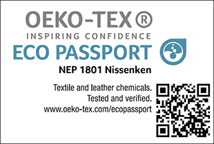 [ECO PASSPORT] Certification label No. NEP 1801