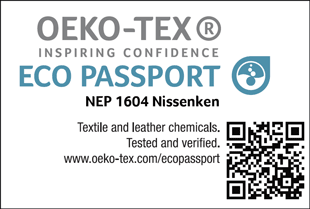 [ECO PASSPORT] Certification label No. NEP 1604