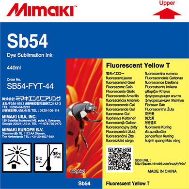 SB54-FYT-44 Sb54 Fluorecent Yellow T