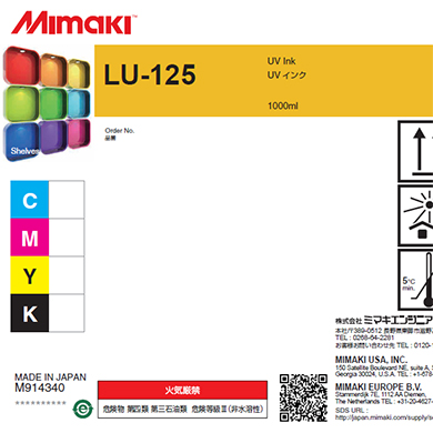 LU125-M-BA LU-125 UV curable ink 1L bottle Magenta