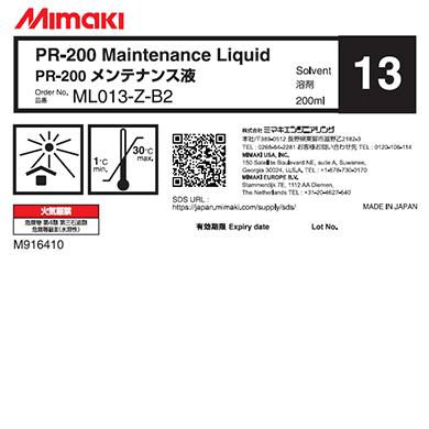 ML013-Z-B2 PR-200 メンテナンス液