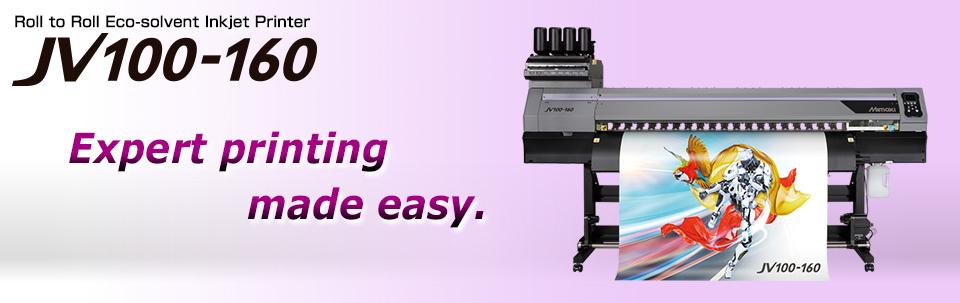 JV100-160 | Roll to Roll Eco-solvent Inkjet Printer (Bottle type)