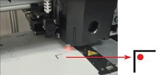 red pointer inside the corner of the register mark