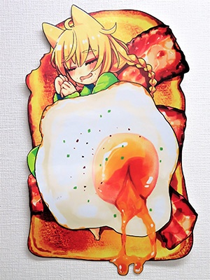"Yousei's novelty, ""Die-cut poster"" uses UCJV300 to produce"