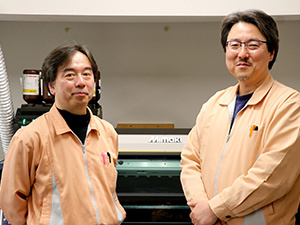 Mr. Yasuharu Sugawara, President (right) and Mr. Jiro Yamagami, Engineering Department (left)